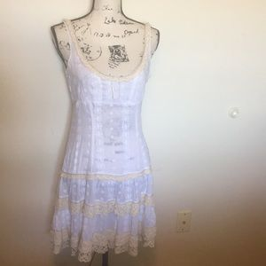 Free People White Lace Dress Women's Size  6